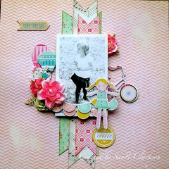 Sneak Peek LO, My Creative Scrapbook April Limited Edition