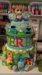 Better pic of Monkey Diaper Cake