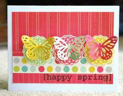 Happy Spring card *SRM stickers*
