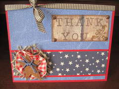 Military Thank You Card (Front)