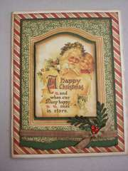 Graphic 45 Happy Christmas Card