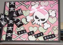 Skull Card - Girl