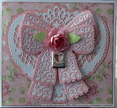 Tattered lace die card