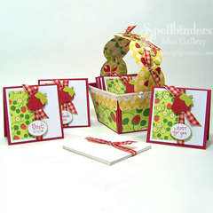 Altered Strawberry Basket by Debbie Seyer