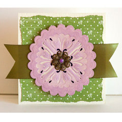 Scalloped Medallion Note Card by Angela Ploegman