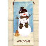 Snowman Welcome Banner by Judy Hayes