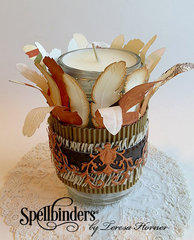 Thanksgiving Holiday Candle by Teresa Horner
