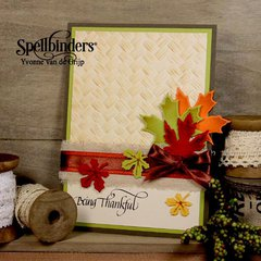 Being Thankful Card by Yvonne van de Grijp