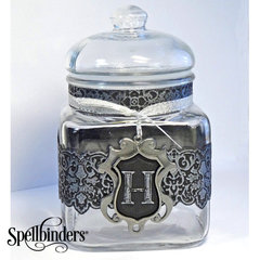 Monogram Jar by Judy Hayes