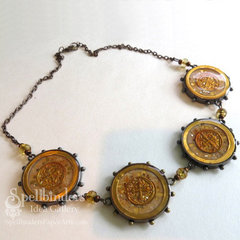 Golden Coin Bezel Nacklace by Teresa Horner