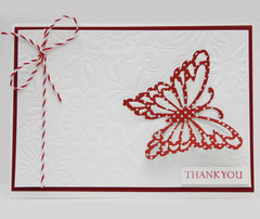 Butterfly Embossed Card by Christine Emberson