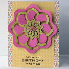 Belated Birthday Wishes Card by Windy Robinson