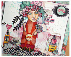Bloom Girls Mixed Media Art Journal- Jamie Dougherty