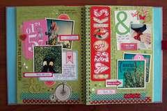 Smash Book Spring Page