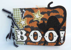 Boo! Chipboard mini album