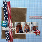 Little Monster layout by Shannon Zickel