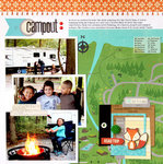 Campout Layout by Nancy Damiano