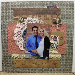 Baby Love Layout by Sheri Feypel