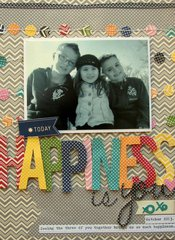 Happiness Is You Layout By Nicole Nowosad