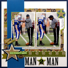 Man 2 Man by Laina Lamb featuring the Game Day Chili Collection from Jillibean Soup