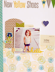 New Yellow Shoes Layout by Teka Cochonneau