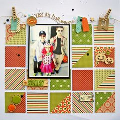 Yay! It's Halloween layout by Nicole Nowosad