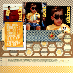 You Are My Sunshine Layout by Nancy Damiano