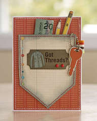 Got THreads? Money/GiftCard holder *Cosmo Cricket*