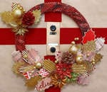 Punchinella Christmas Wreath- Gauche Alchemy