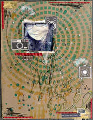 Stencil experiment- Punk Scraps Get Picky challenge for March