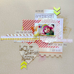 Love, Cherish, Adore. A Scrap FX chipboard DT page