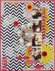Chevron, yellow, vellum love