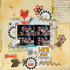 True Xoxo Girls DT- July Challenge- One Hour page!