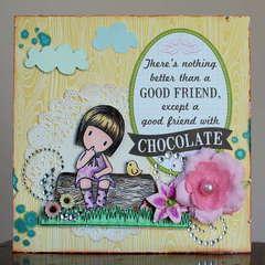Friend Card *Paper Lovelies April Kit*