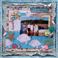 Scraps of Darkness & Sketches: Creatively Yours ~ Seaside Holidays