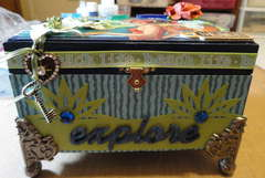 GRAPHIC 45 ALTERED JEWELRY BOX - front- **Scraps of Darkness**