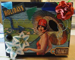 GRAPHIC 45 ALTERED JEWELRY BOX - top **Scraps of Darkness**