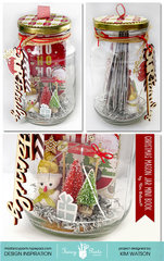 Christmas Mini album in a Mason Jar