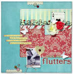 ...And my heart flutters *Feb Cocoa Daisy kit*