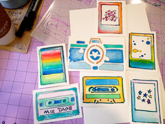 Stencil Watercolor Cards
