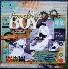 All Awesome Boy **video** Paper House & Xyron with Simple Stories