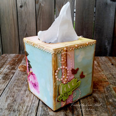 Elegant Tissue Box **Paper House & May Arts**  w. video