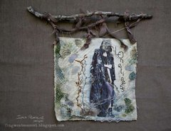 Loneliness banner - textile art