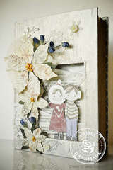 Merry Christmas Altered Book