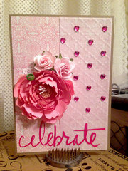 Celebrate Pink Peony Birthday Card