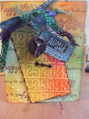 Tim Holtz Inspired Birthday Card