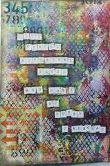 Don't Be Sorry...an art journal page