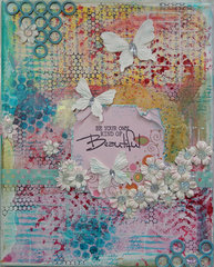 8x10 mixed media canvas for Craft Hoarders Anonymous DT