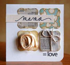 Mama = Love card