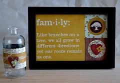 Family frame and vase